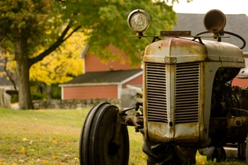 This photo of an antique tractor - I think it's a Farmall - was taken by New Jersey photographer Piotr Bizior.
